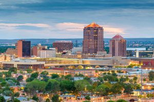albuquerque city skyline looking west