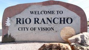 welcome to rio rancho sign on unser blvd