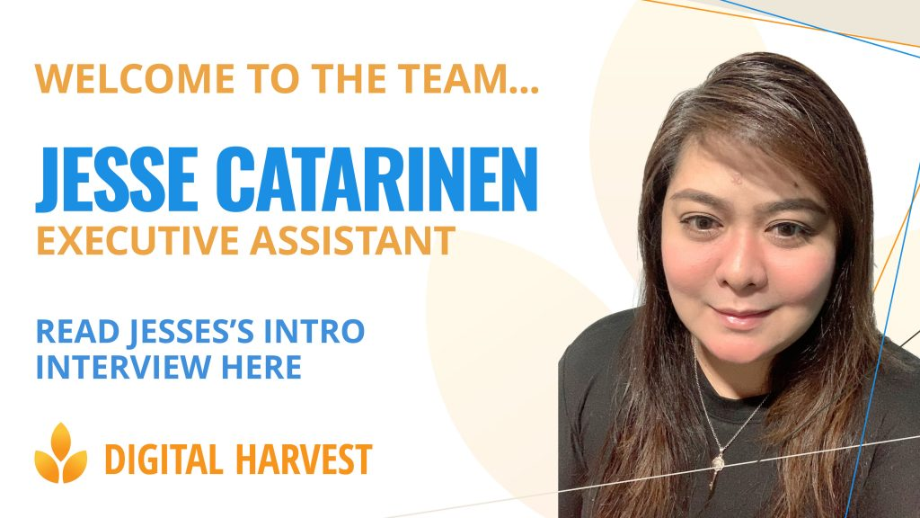 picture of jesse catarinen joining the Digital Harvest team