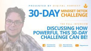 30-day mindset detox challenge blog post banner discussing halfway point of the challenge
